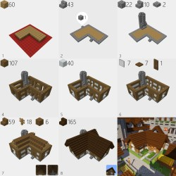 How to build a simple medieval house : Minecraft