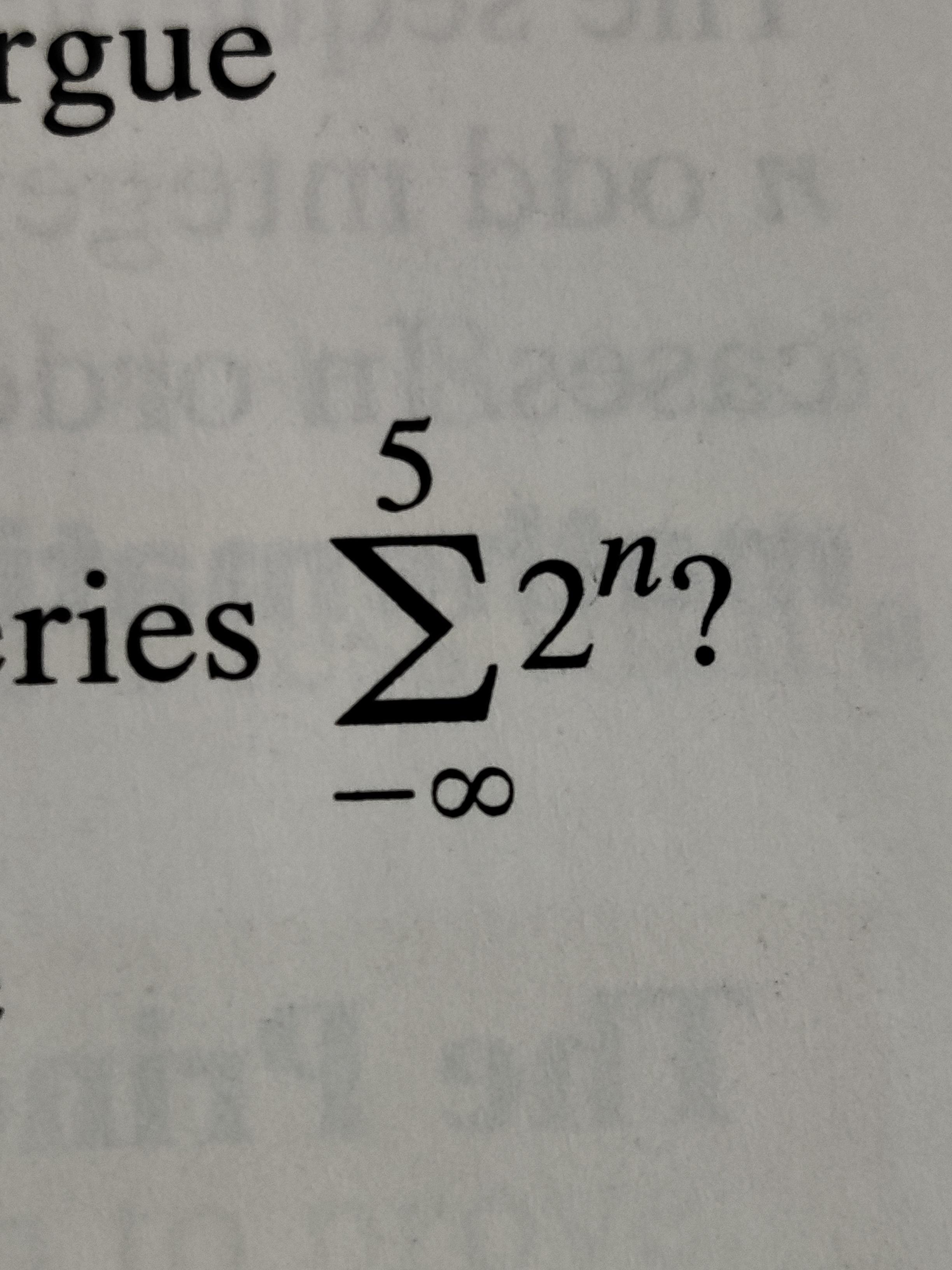 ([High School Math] Geometric Series) I know the sum is 64