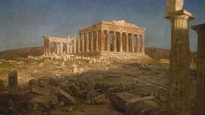 The Parthenon artwork by Frederic Edwin Church [1920 x 1080]