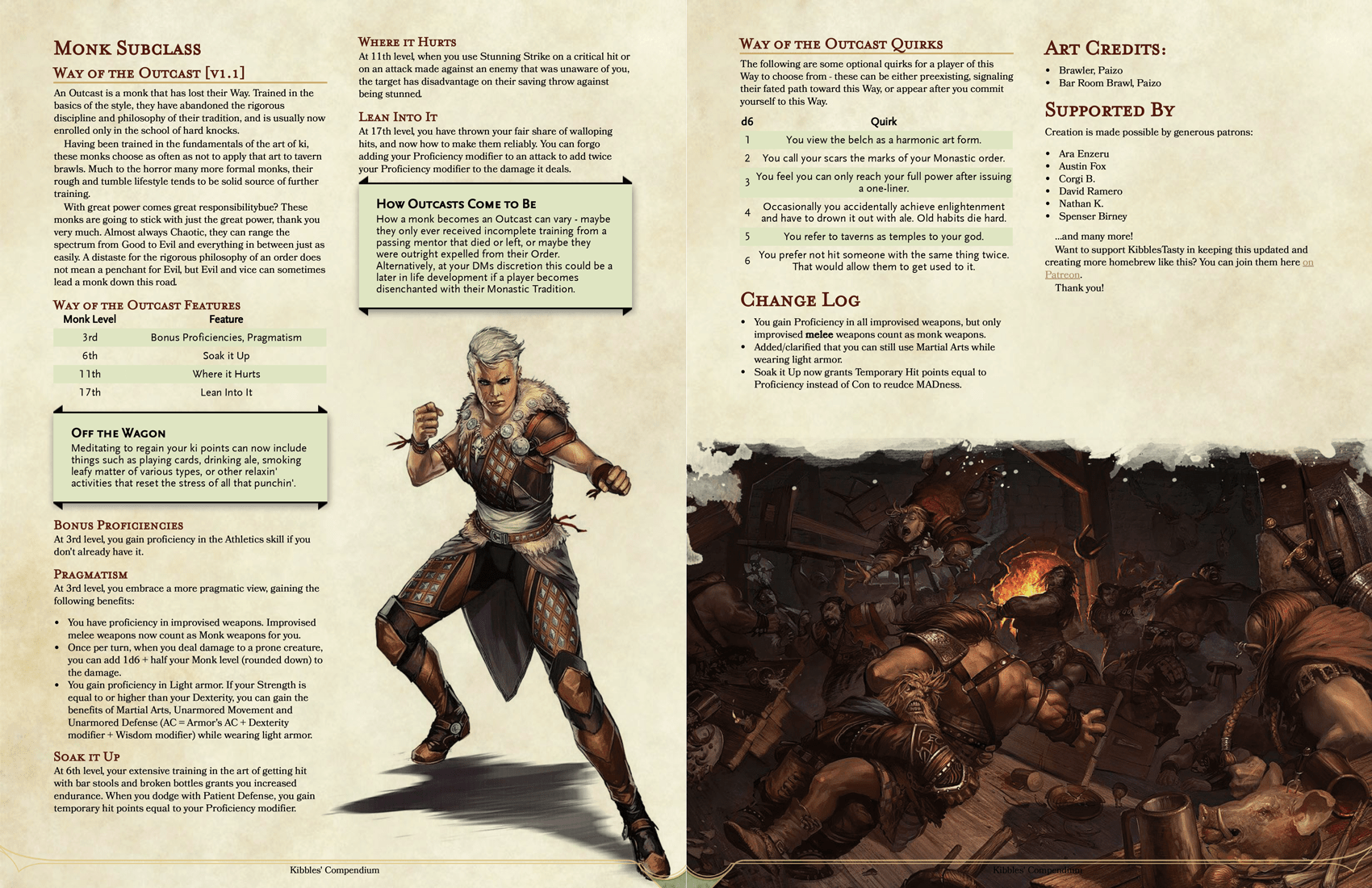 5e  Way of the Outcast Monk A Monk that has lost their