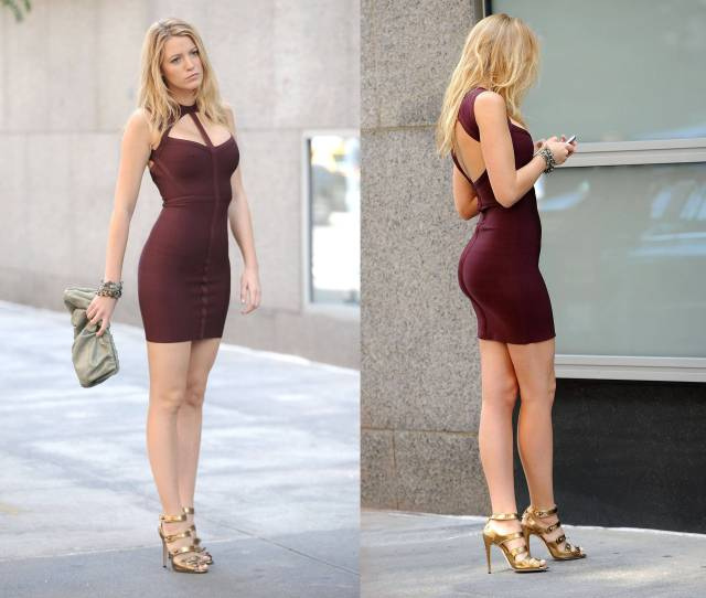 Blake Lively Serious And Sexy With Tight Dress Celebs