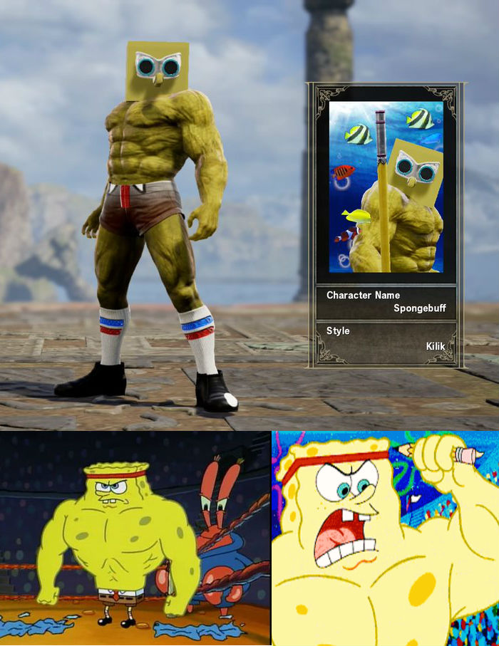 spongebob buffpants soulcaliburcreations