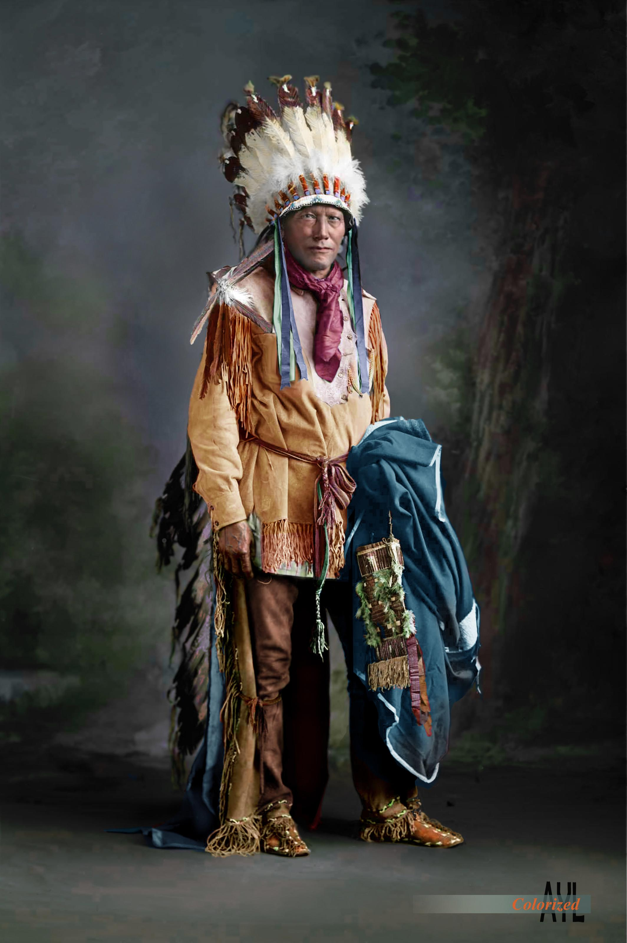 American Indian Chief Porcupine Cheyenne Ca