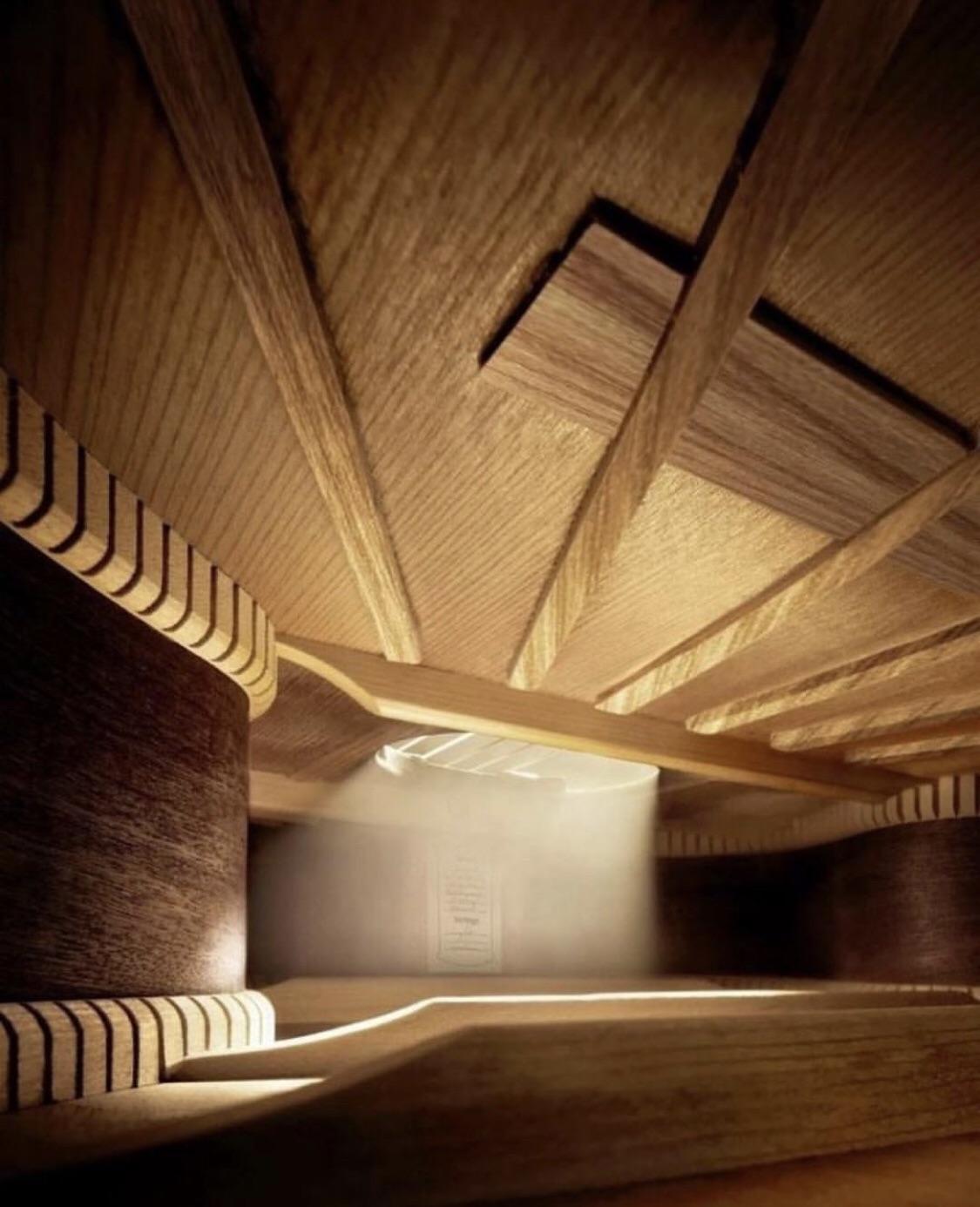 The interior of a guitar : pics