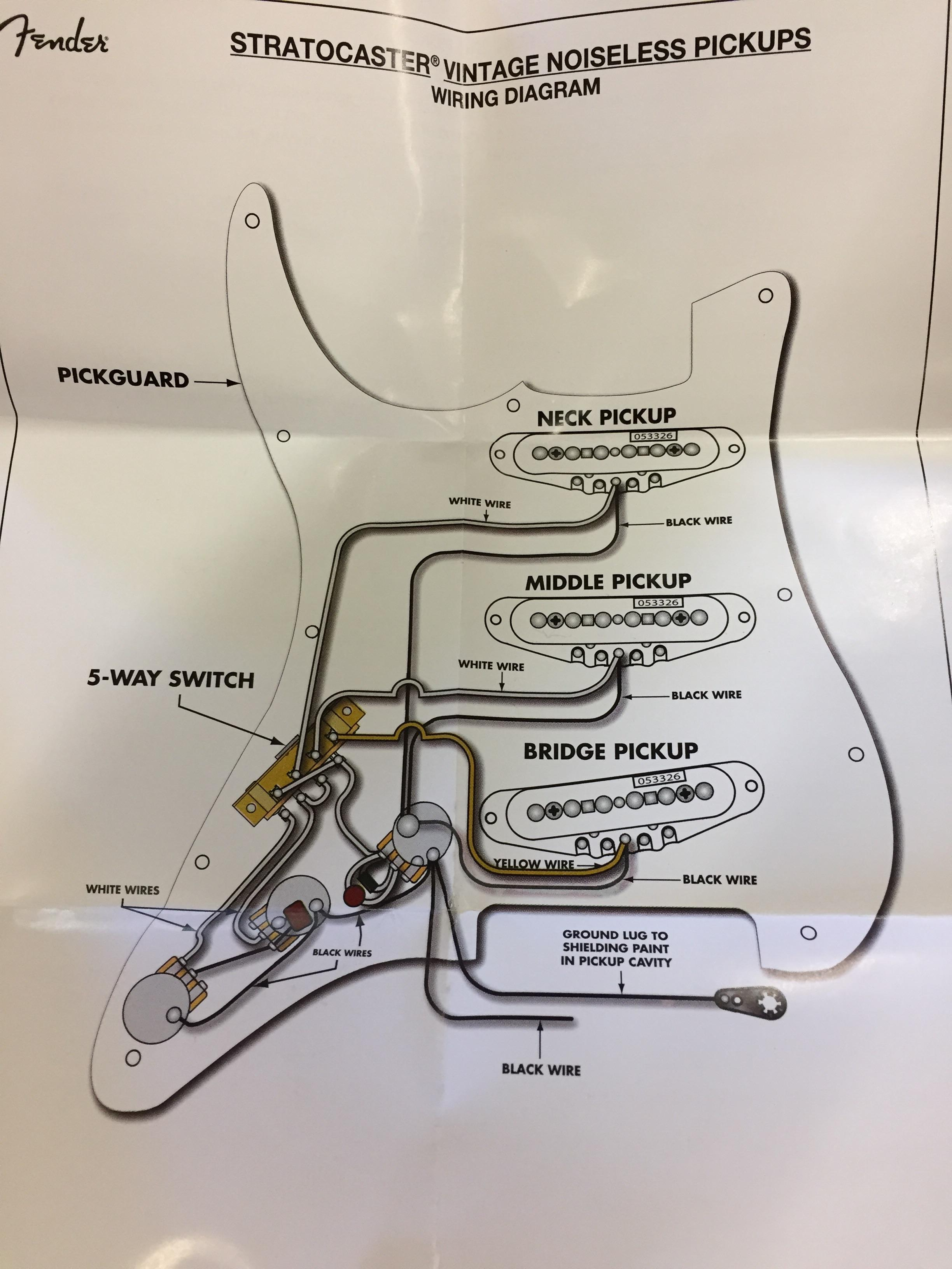 Smith Pickups Wiring Diagrams Fender N3 Pickup Wiring Diagram Fender