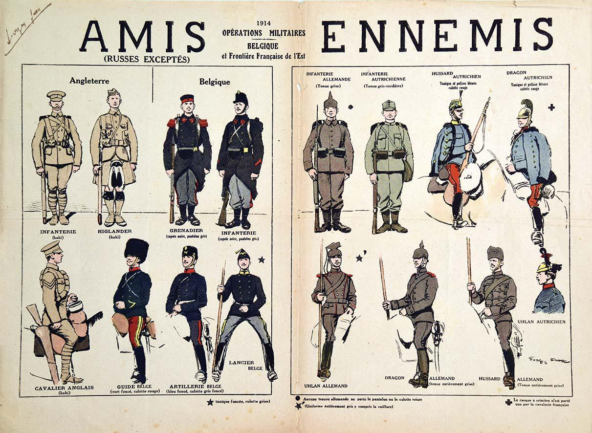 French Poster For Identifying Allied English And Belgian