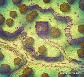 forest map battlemap maps battlemaps dnd shack battle rpg fantasy mine neutral party urza 5e pathfinder roadside dungeons dragons reddit