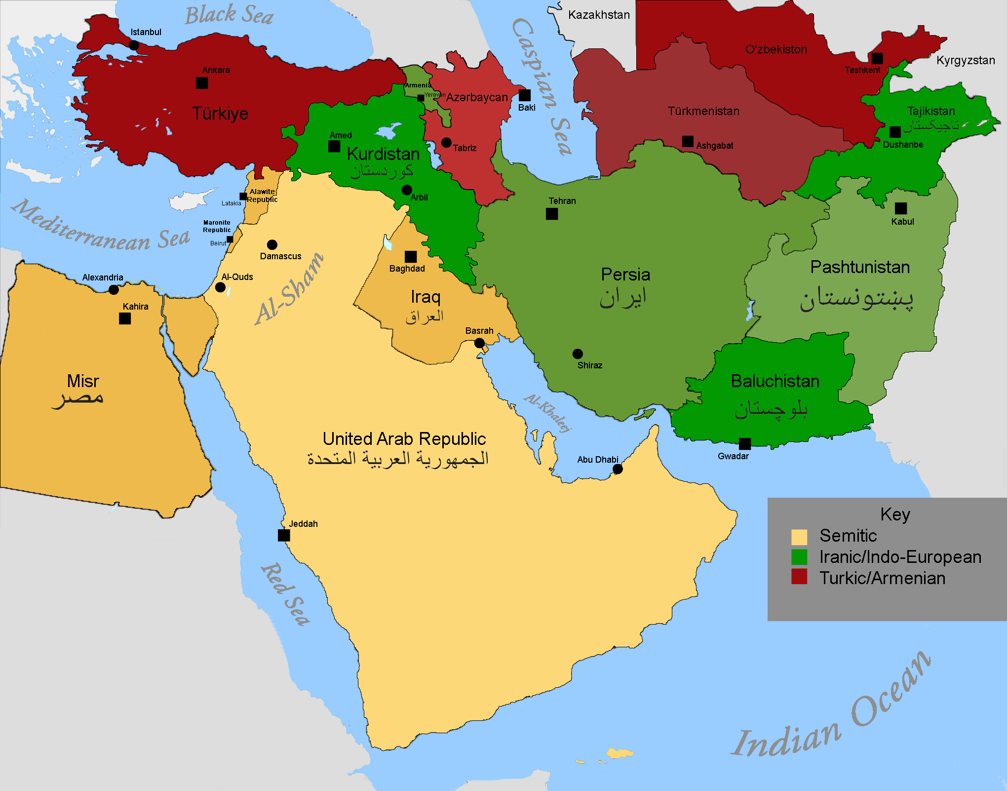 Alternate Map Of The Middle East
