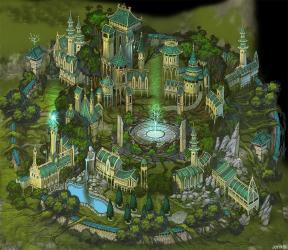 Elven City Concept : conceptart