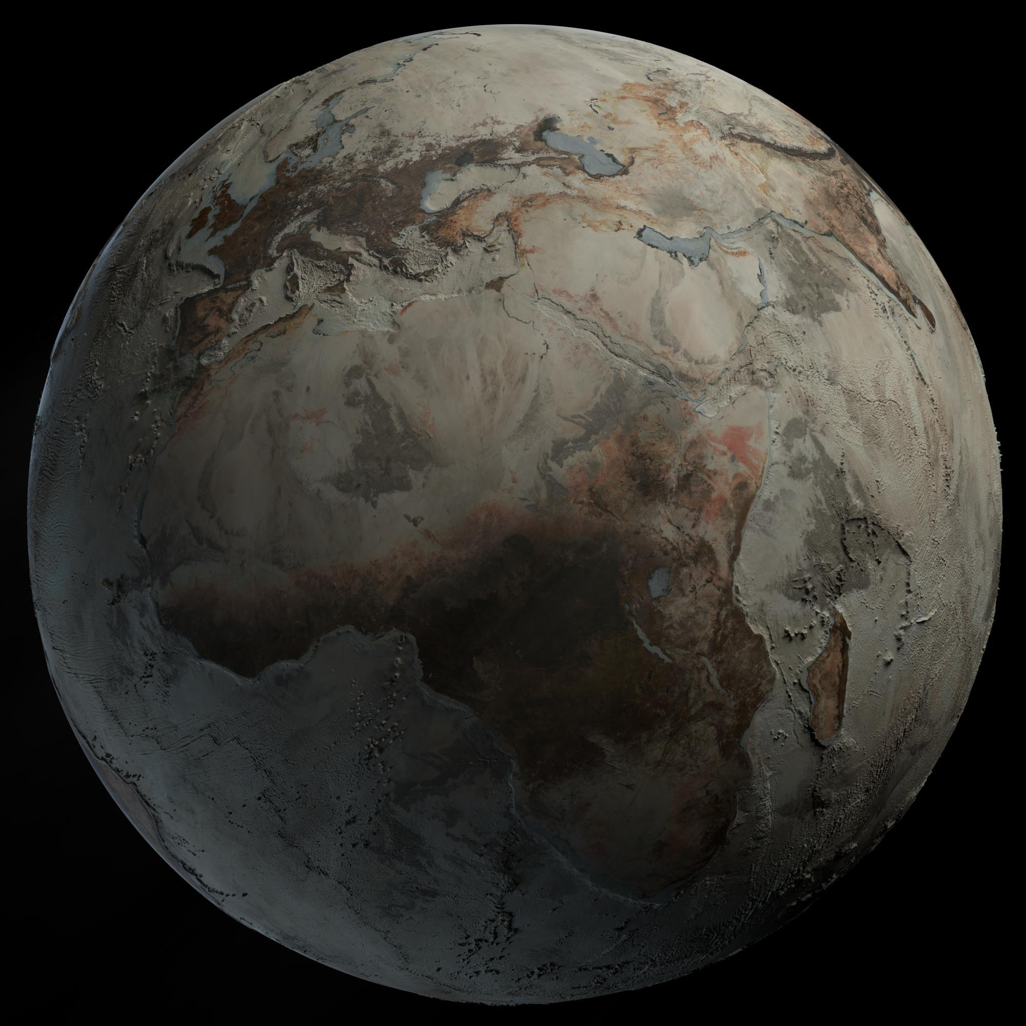 The southern portions of t the four oceans on earth are the pacific, atlantic, indian and arctic. Earth Without Oceans Pics