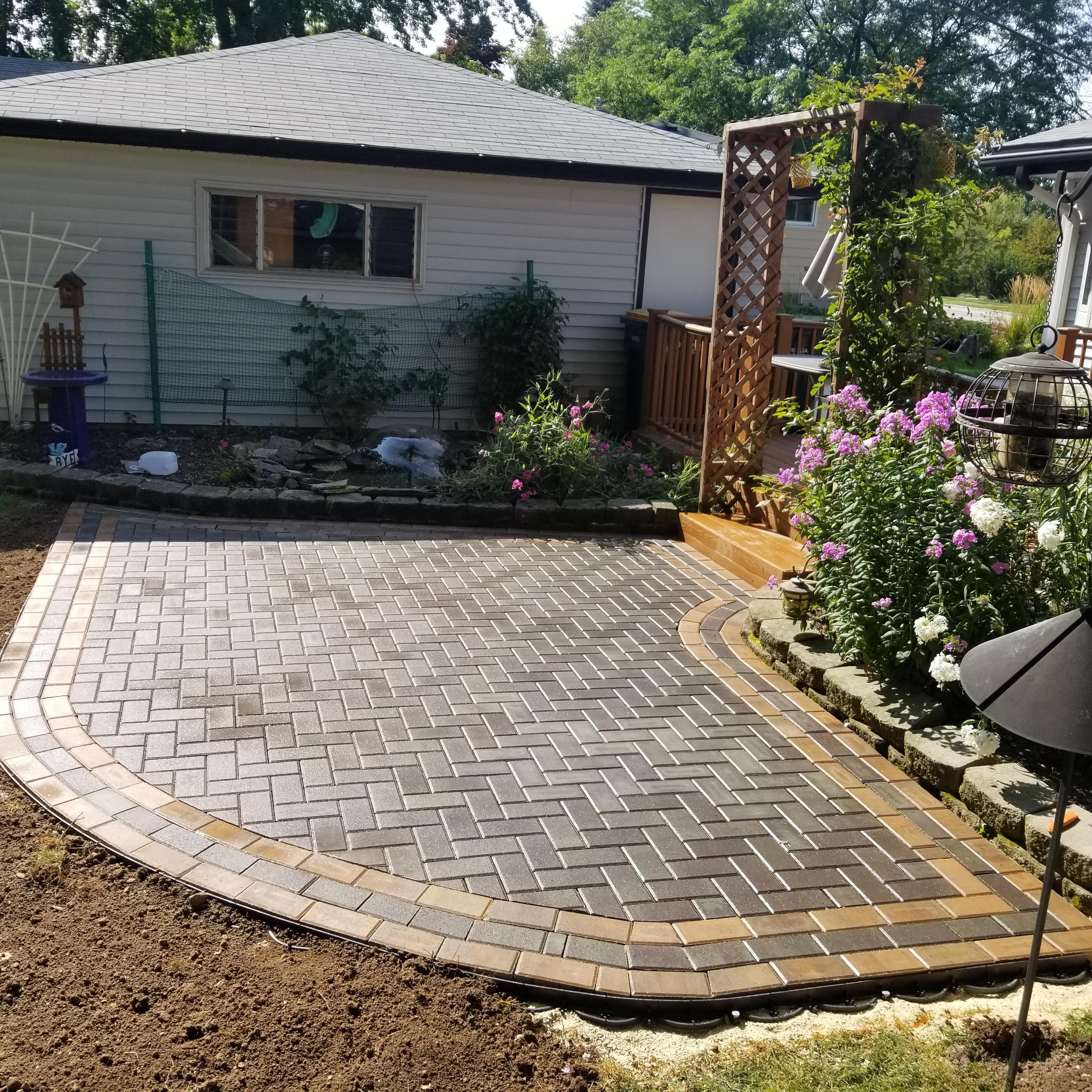 small paver patio installation