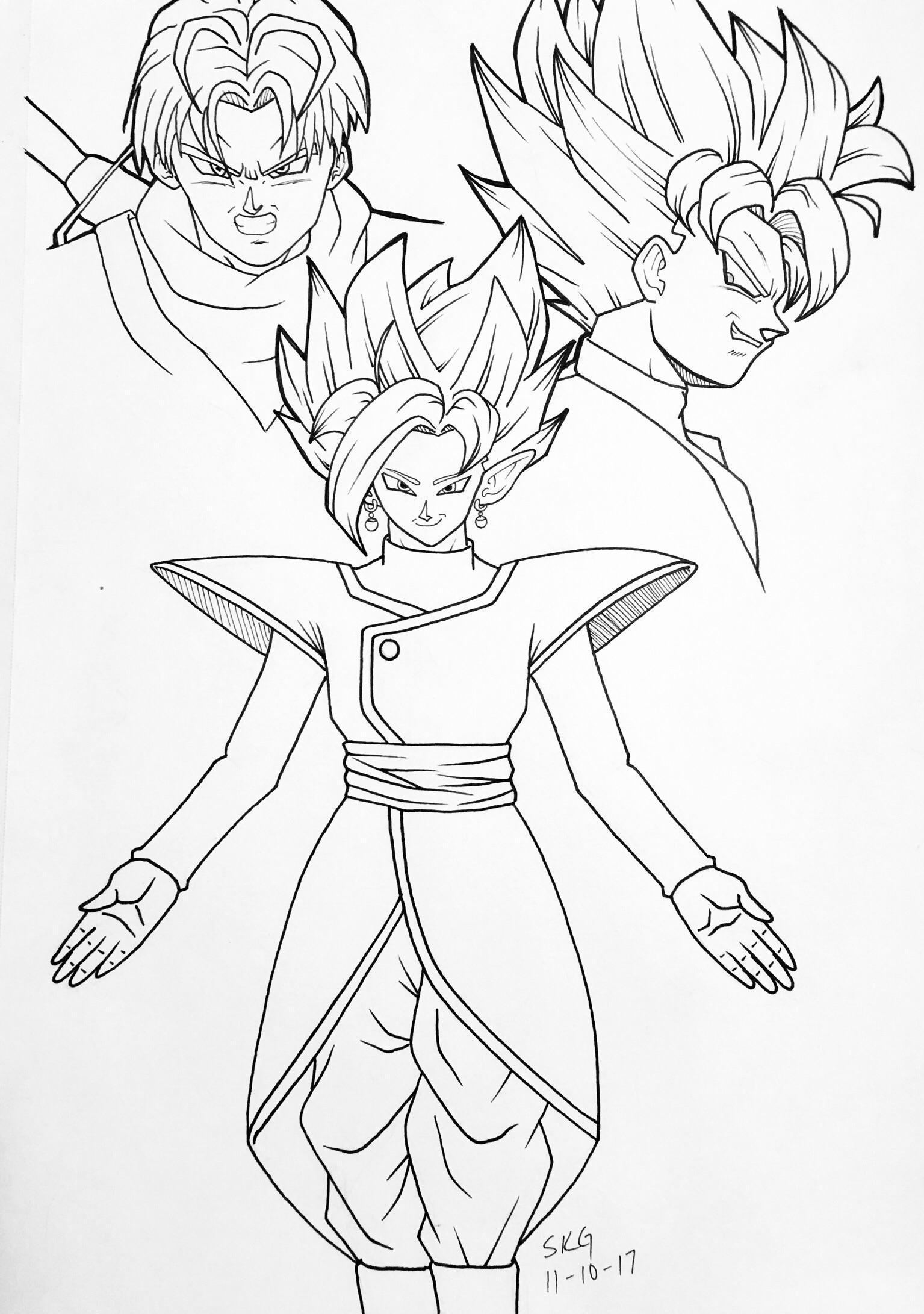 [OC] Fused Zamasu, Goku Black, & Trunks. Please critique