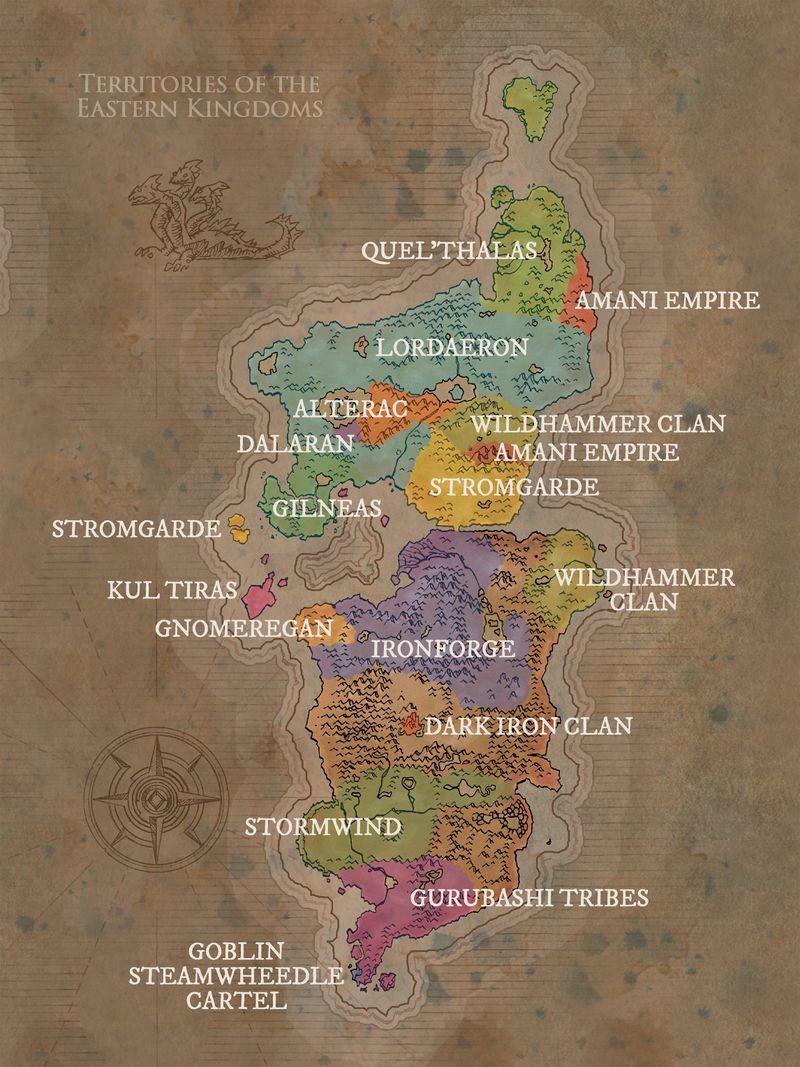 Eastern Kingdoms Map : eastern, kingdoms, Taken, WoWWiki,, Accurate, Despiction, Eastern, Kingdoms, 'classic', Warcraft, Games