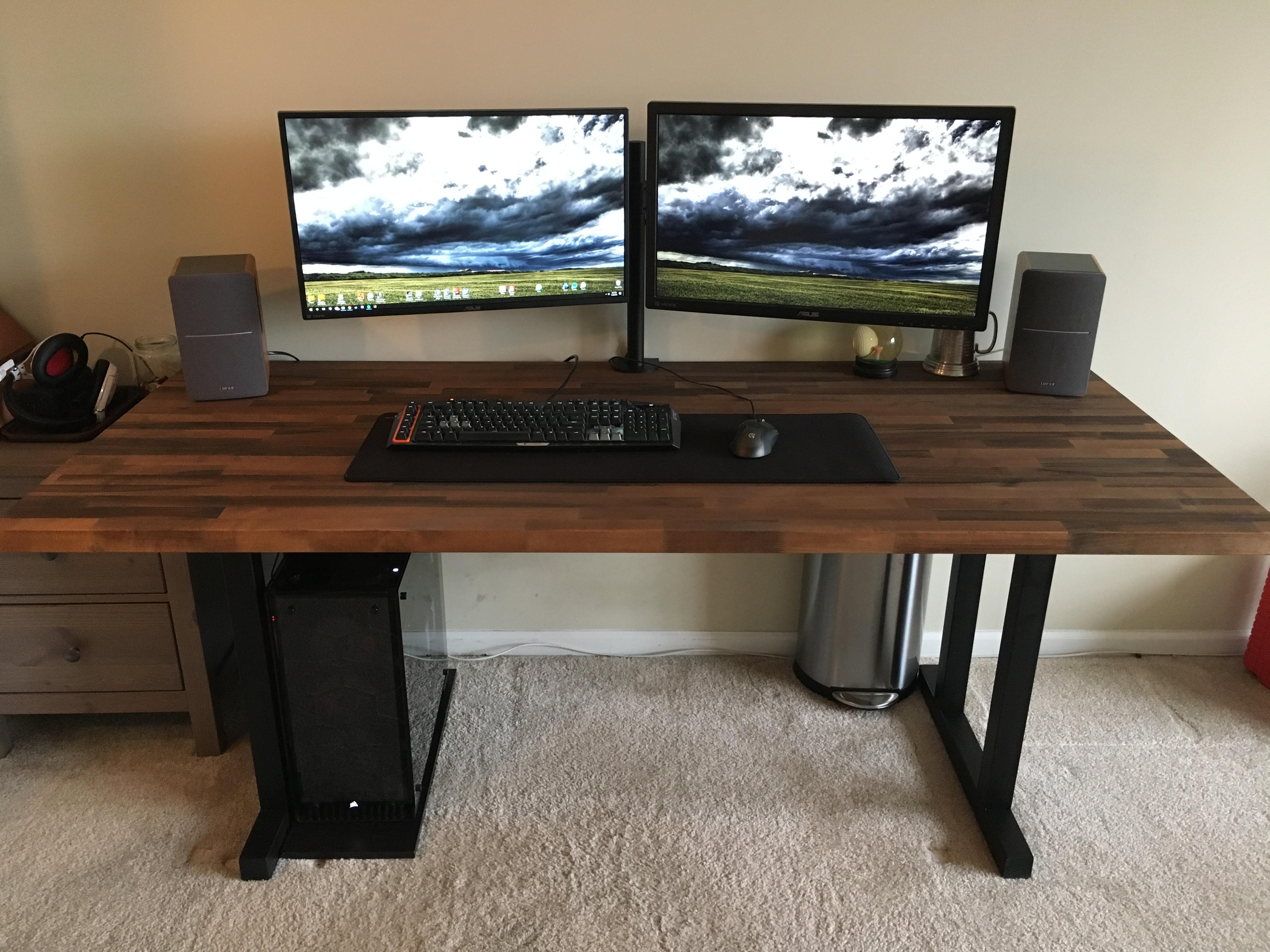 My new battlestation  DIY Desk for
