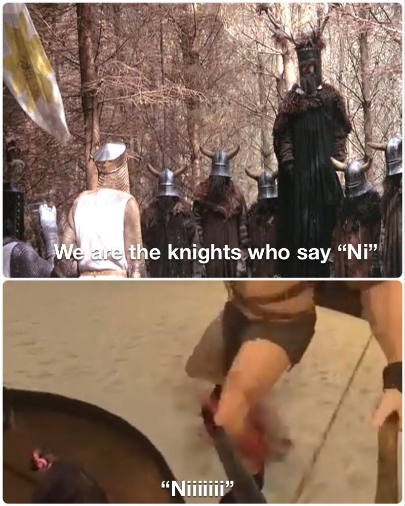 knights who say ni Meme Generator - Imgflip