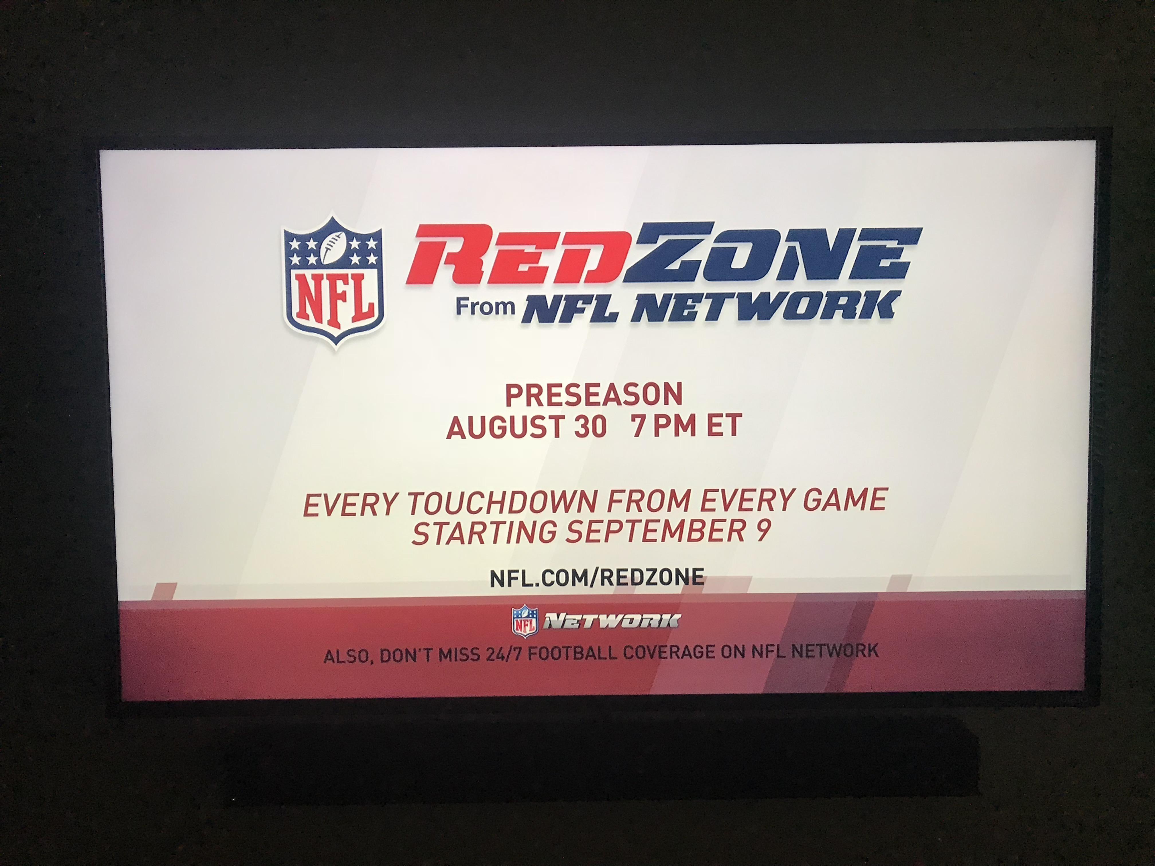 redzone starts aug 30th