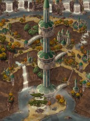 Elven City in the Golden Grove the last place of refuge for the elves in my world Let me know what you think : : inkarnate