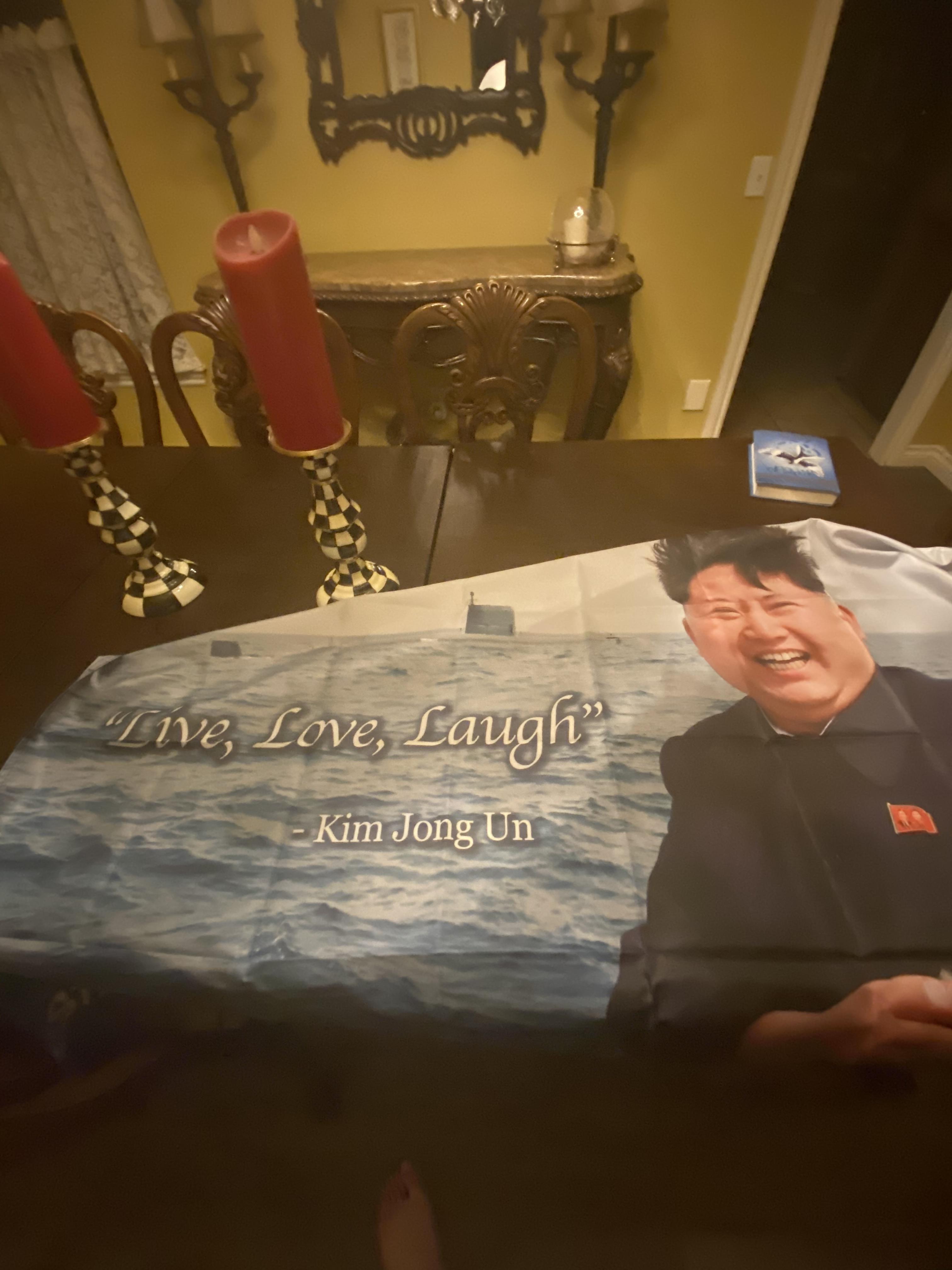 Kim Jong Un Flag Live Laugh Love : laugh, Blursed, Blursedimages