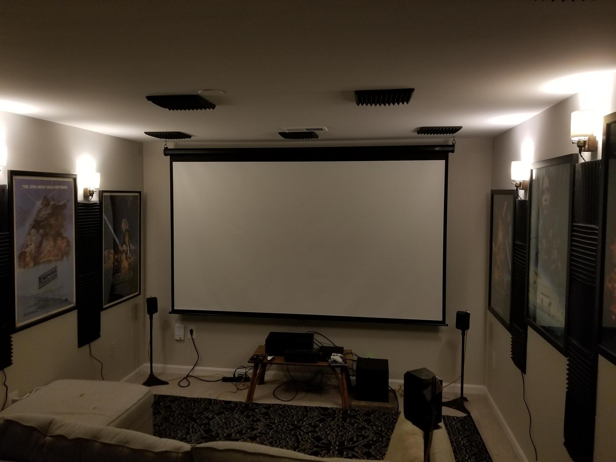 hight resolution of av pornapartment home theater set up i still have some cable management to do