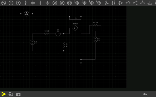 small resolution of  circuit diagram how do i connect this current controlled current source i want it to be the current that goes through my 54k resistor