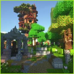 Wood Elven Treehouse I build in Minecraft LOTR loving my base in the Shire : : Minecraft