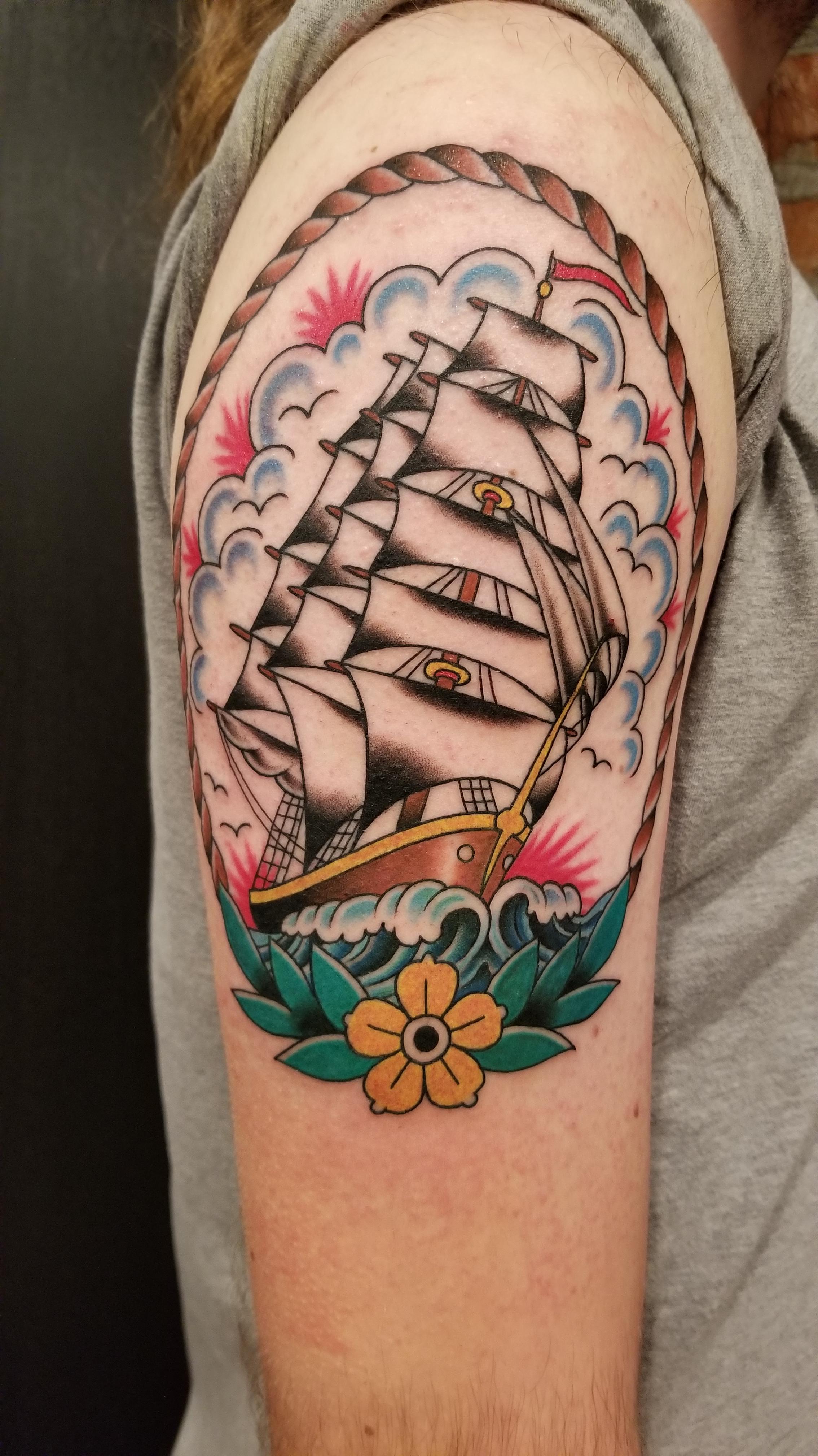 Eastern Pass Tattoo : eastern, tattoo, Jerry, Justin, Dunwoody, Eastern, Tattoo, Philadelphia,, Tattoos