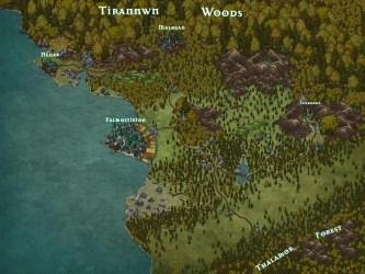 First addition of the Elven Lands Super Map : inkarnate