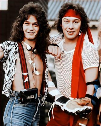 Eddie and Alex Van Halen in 1979. : vanhalen