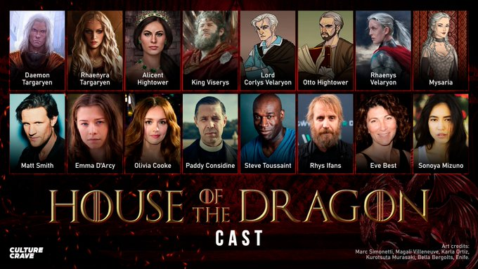 Main cast of House of the Dragon: HouseOfTheDragon