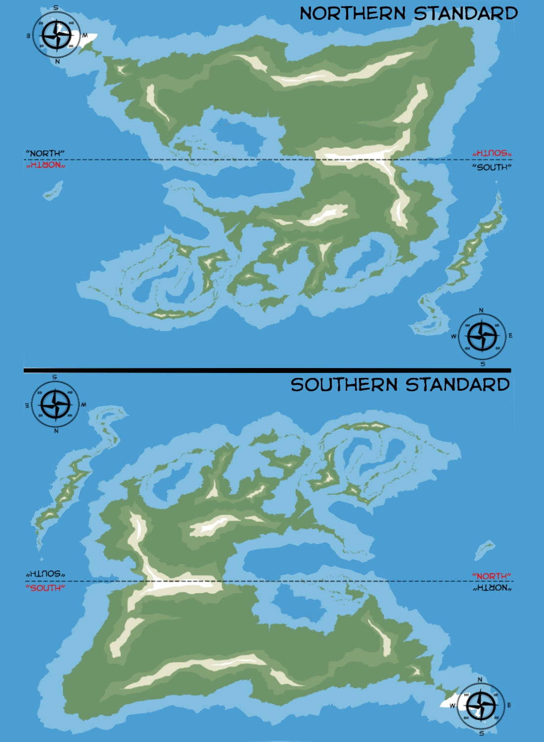 Map Standards Used In The Northern And Southern
