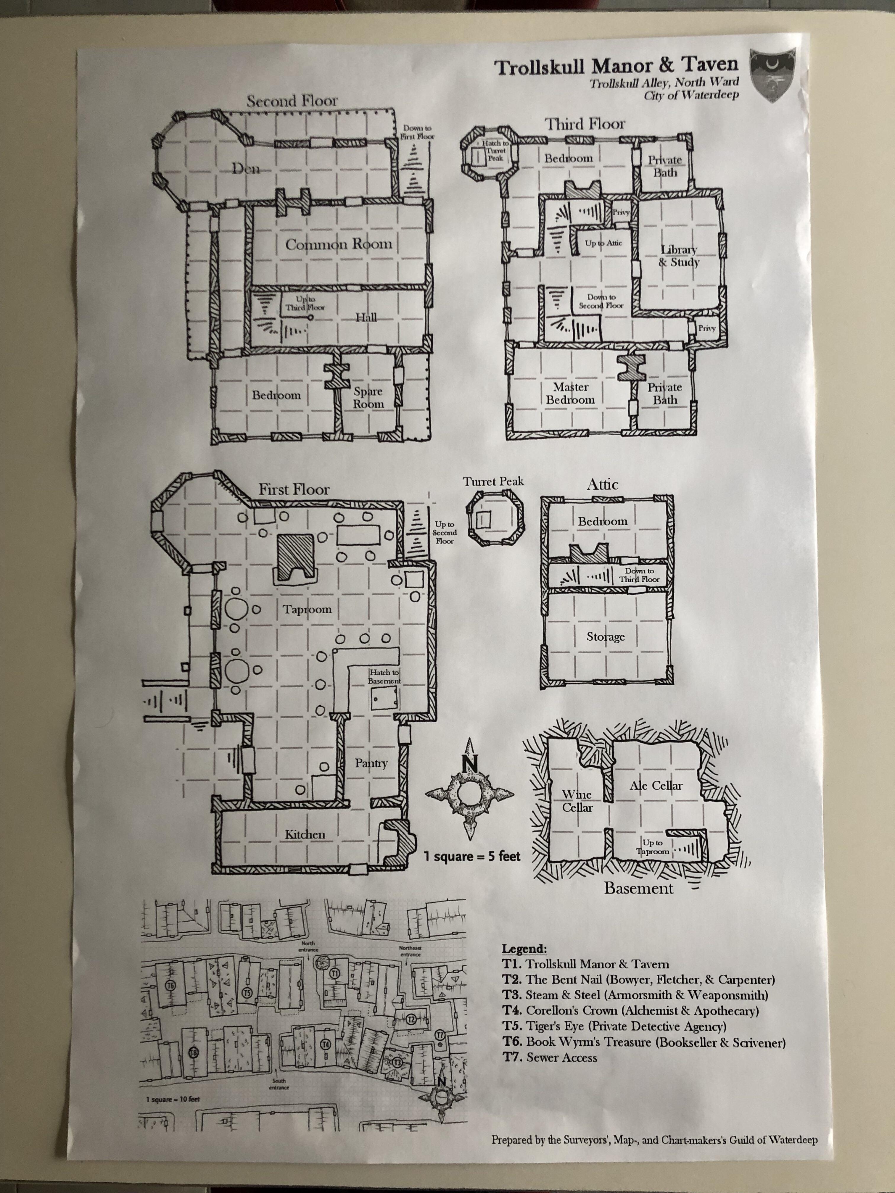 Manor Dnd Map : manor, Scale, Trollskull, Manor, Poster