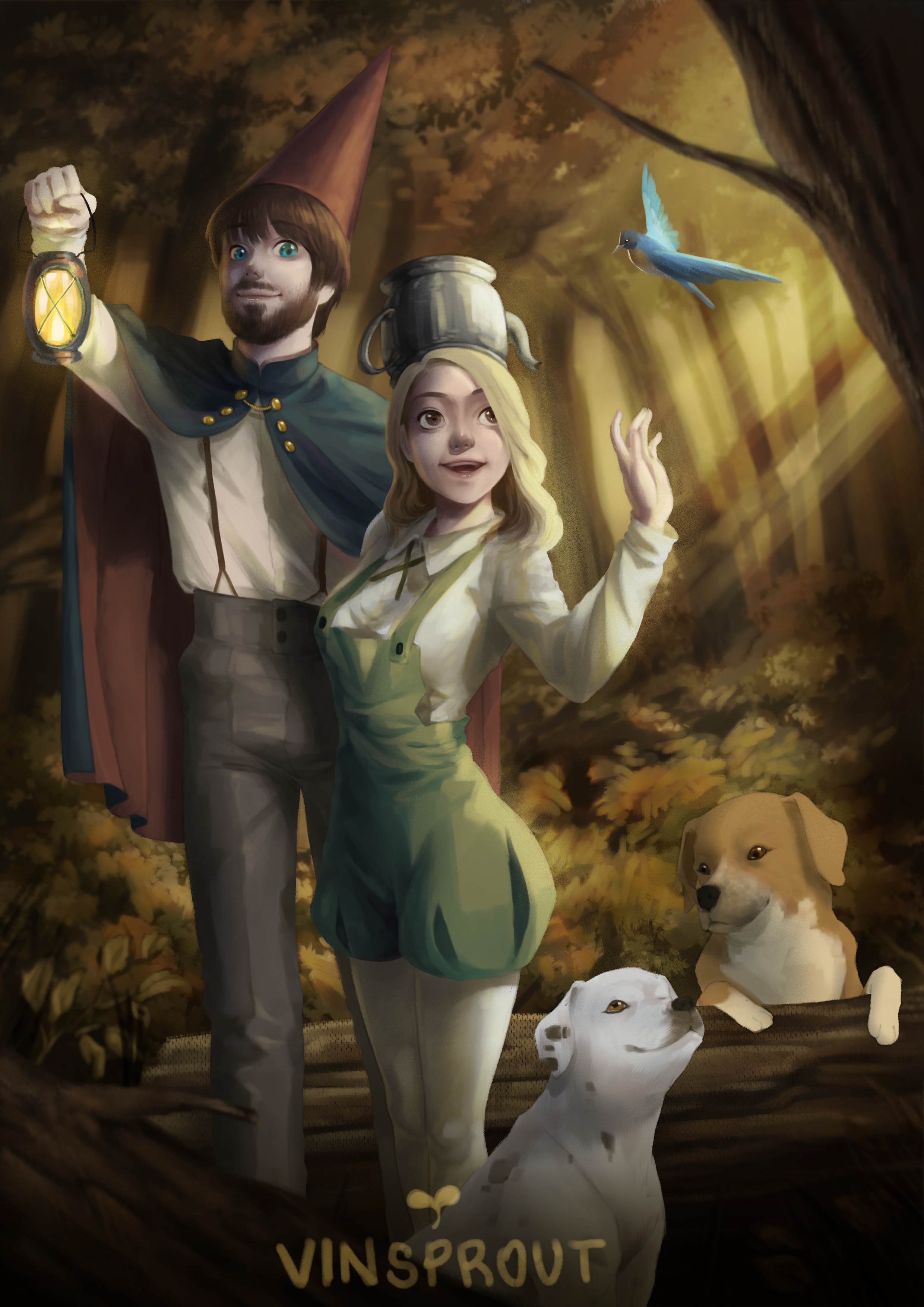 Over The Garden Wall : garden, Garden, Themed, Commission, Illustration!, MUCH!!, Still, Accept, Commissions!, Overthegardenwall