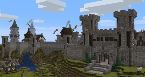 Current WIP Minecraft project a medieval city : Minecraft