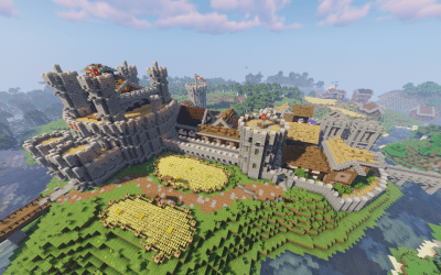 A medieval city I have been working on : Minecraft