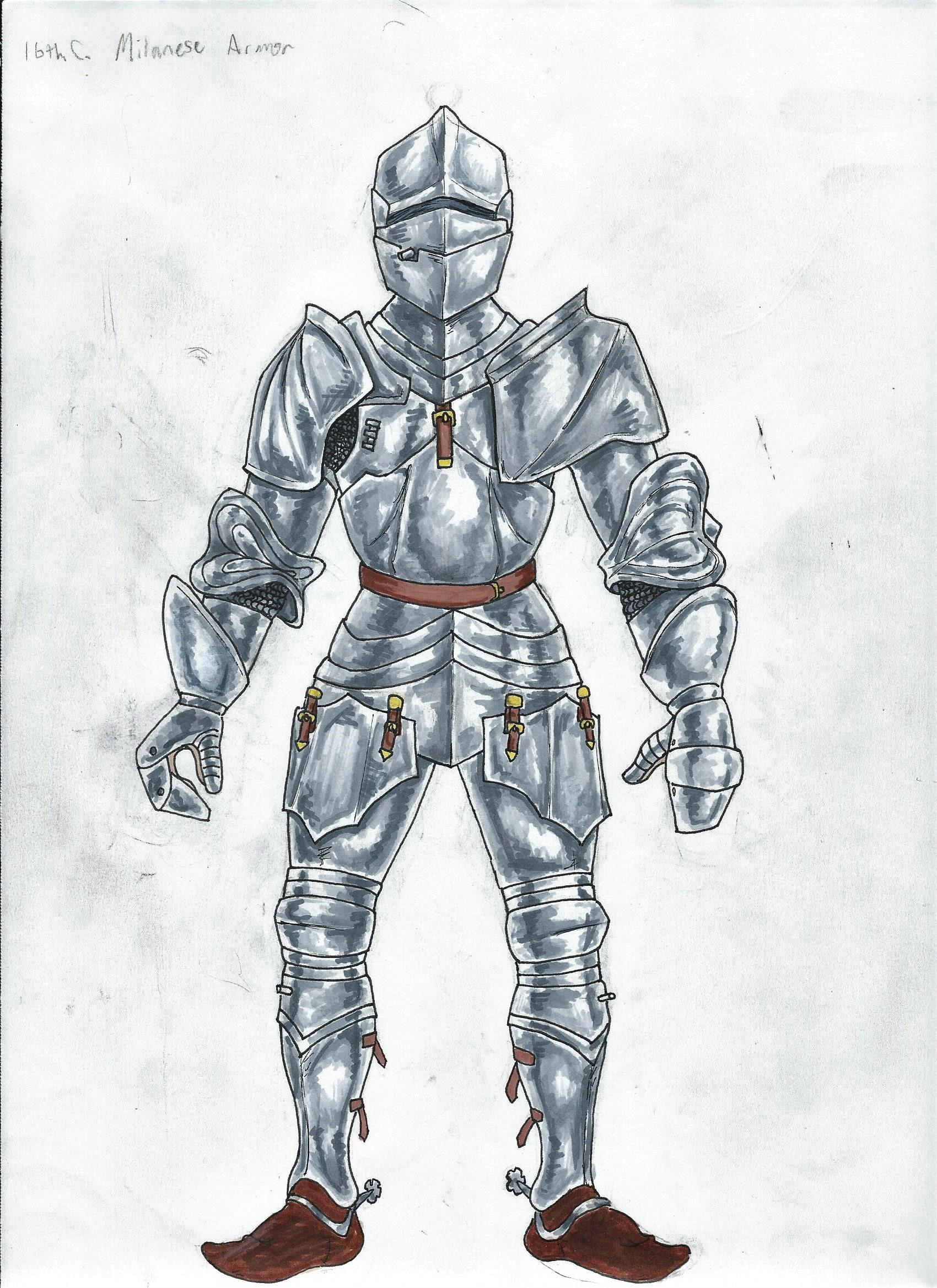 Drawing Of Armor : drawing, armor, Second, Drawing, Armor,, Feedback?, Learnart