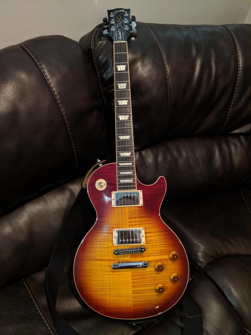 My 2016 Gibson Les Paul Standard with the Iced Tea burst. I ...