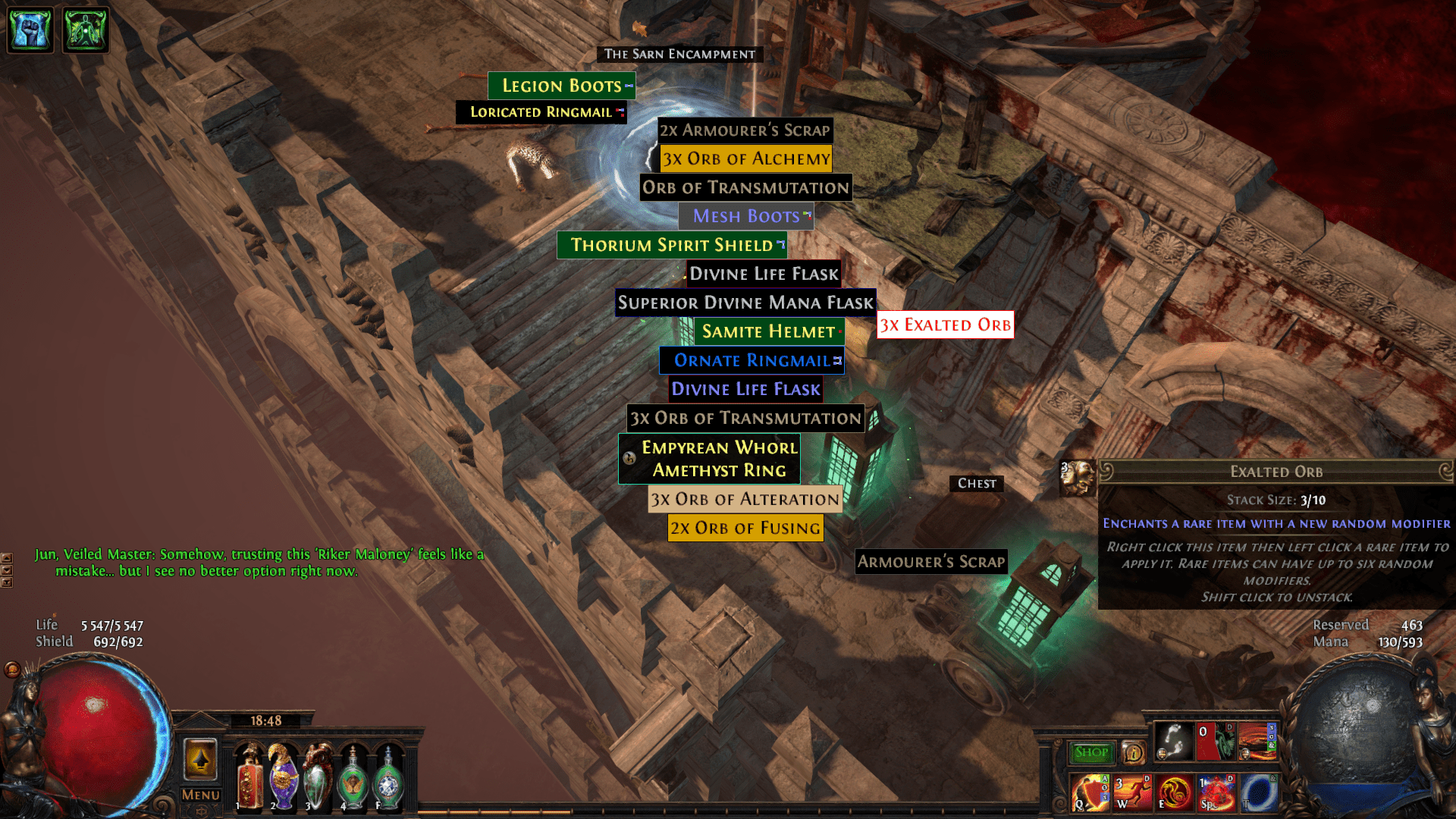 my first exalt this
