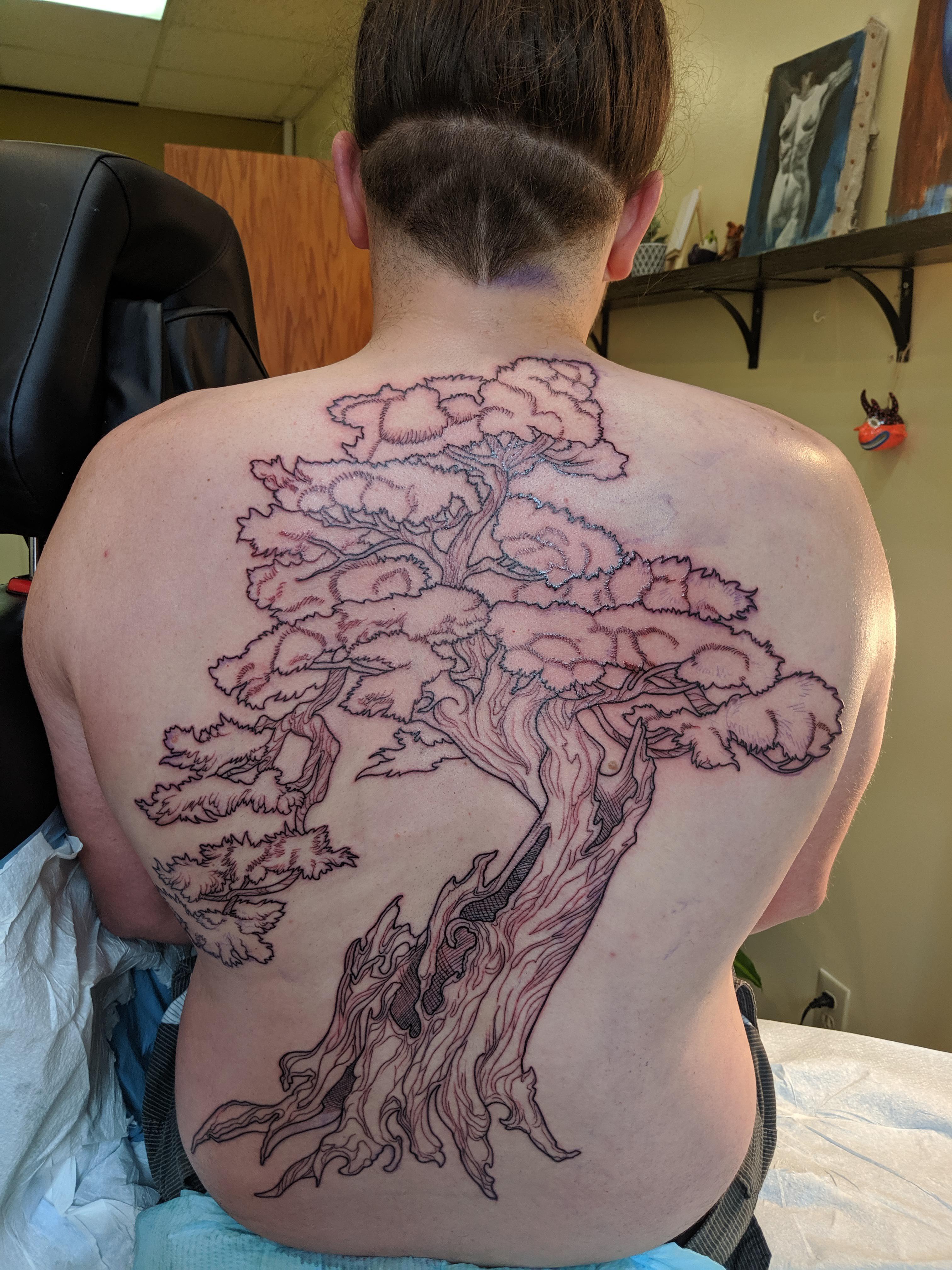 Bonsai Tree Tattoo : bonsai, tattoo, First, Tree...., Tattoo!, Tattoo., Perfect, Specimen,, Neither, That's, Life!, Bonsai