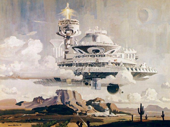 """Arizona Metropolis, 3000 A.D."" by Robert McCall [4096 x 3057]"