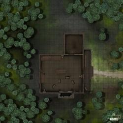 Battlemap] [25x25] Mapvember Day 25 Cabin: FantasyMaps