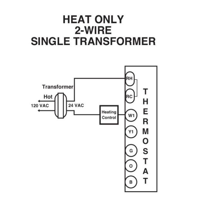 2wire thermostat wiring diagram for heater  this pic is