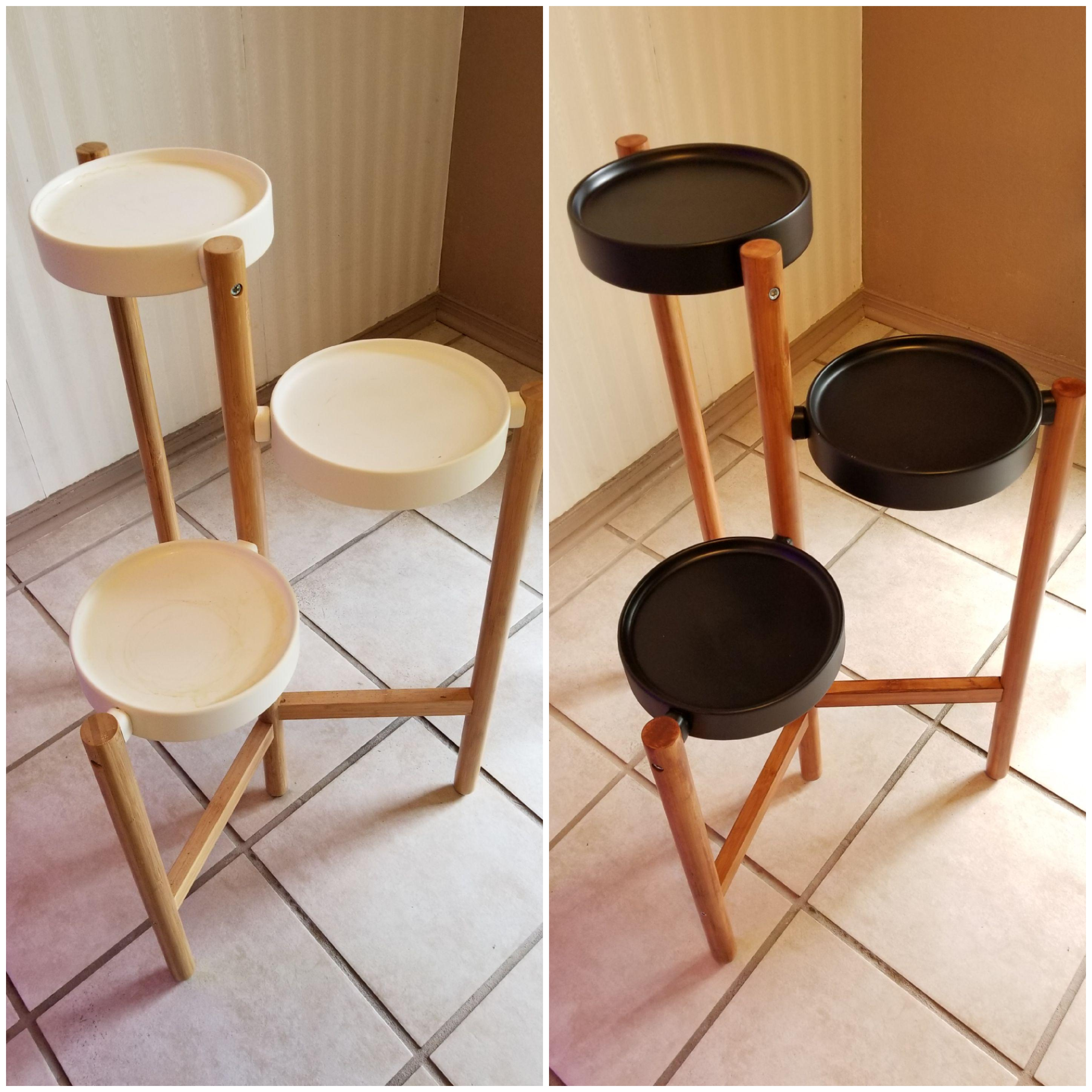 I Bought One Of These Ikea Plant Stands A Couple Of Years Ago And Mentioned I Might Paint And Stain It People Asked Me To Post Pics Of I Did More Info