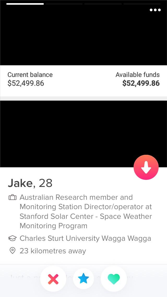 Putting A Screenshot Of Your Bank Balance As A Profile Pic On Tinder Trashy