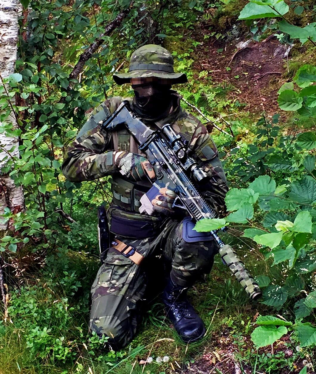 My Multicam Tropic base loadout. adding leaf consealment later :D Using my TM Scar-H NGRS DMR setup with GATE Titan. : airsoft