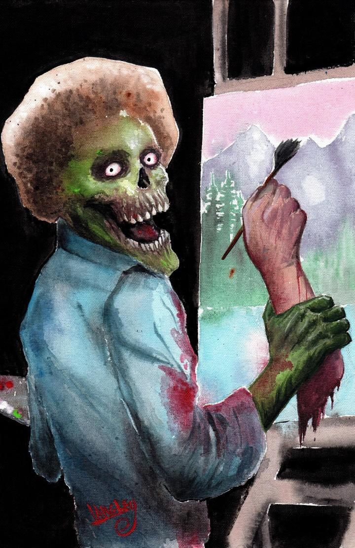 "My original painting, ""Bob Zombie"". Enjoy."