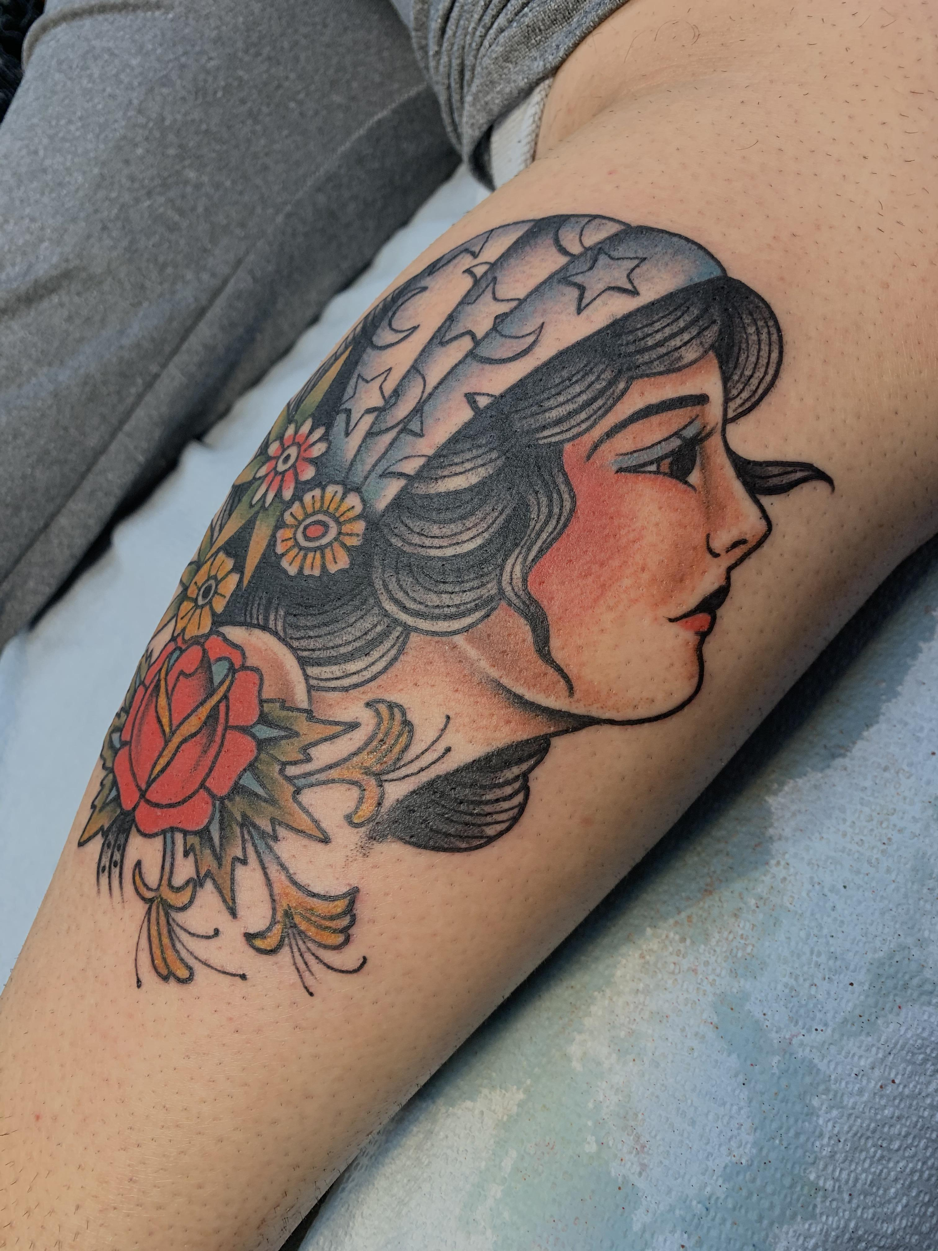 American Gypsy Tattoo : american, gypsy, tattoo, American, Traditional, Gypsy:, Tattoo