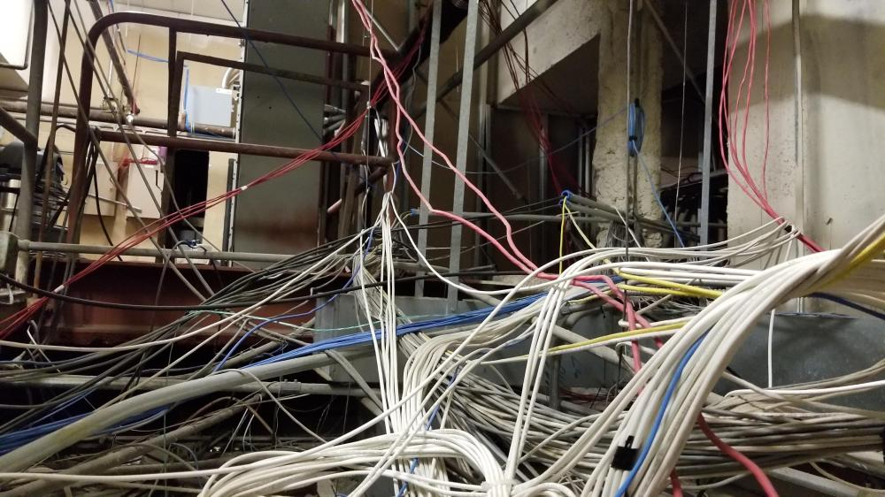 medium resolution of the wires feeding into the server room