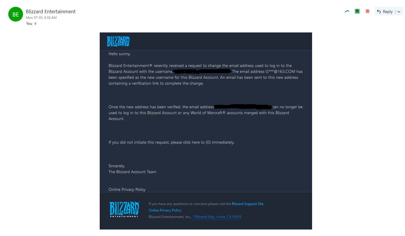 help blizzard account hacked
