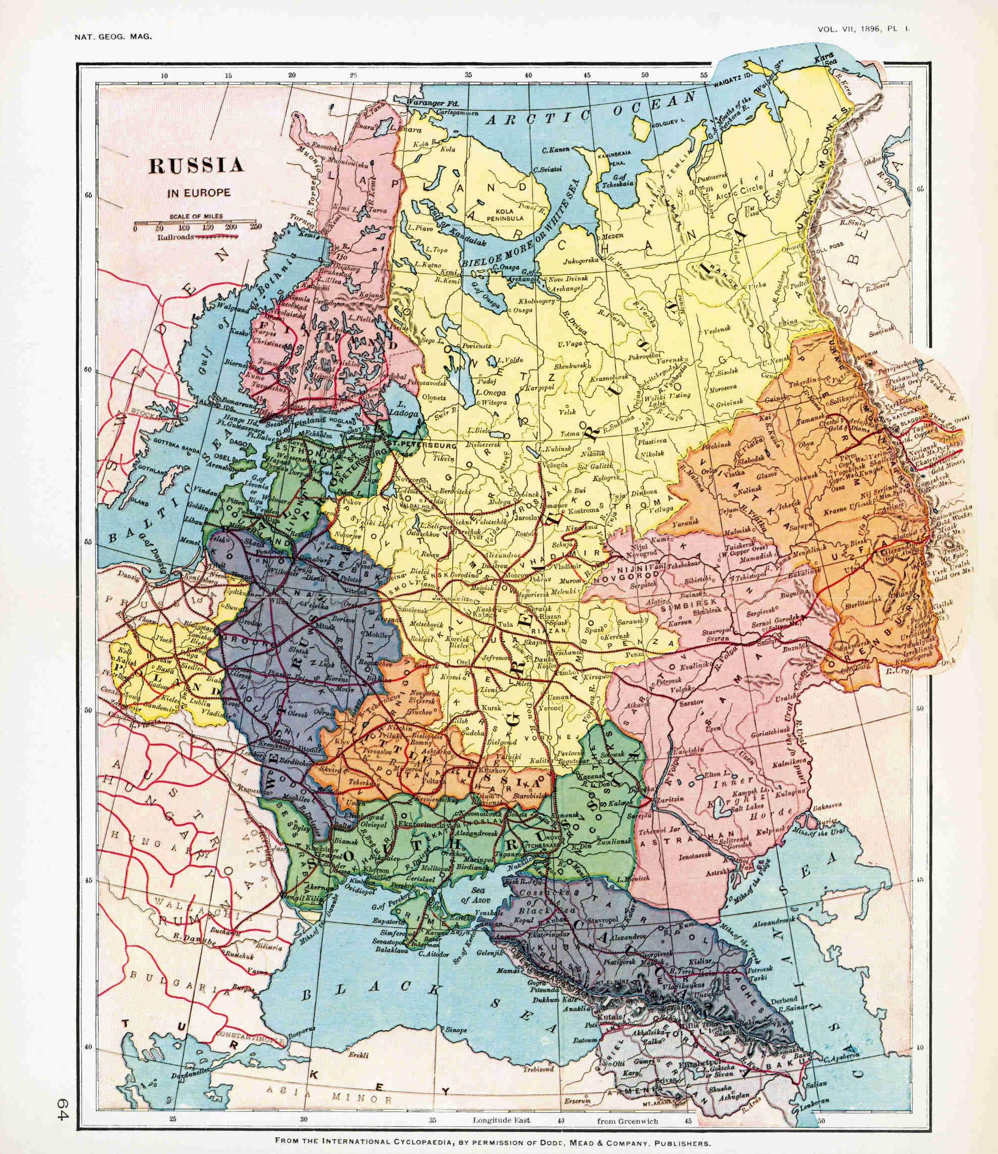 National Geographic Map Of European Russia In Map
