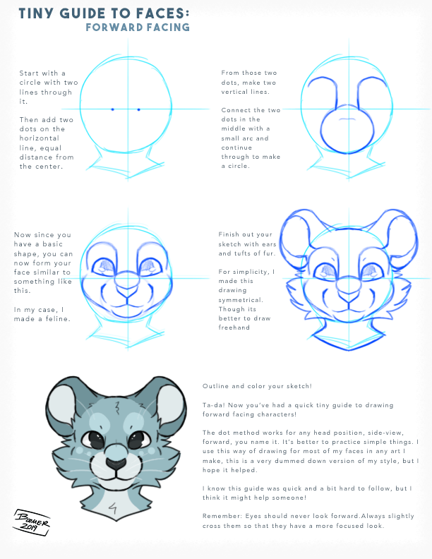How To Draw Furry Heads : furry, heads, Drawing, Advice,, Here's, Brief, Guide, Forward, Facing, Heads!, Practice, Only!), Furry